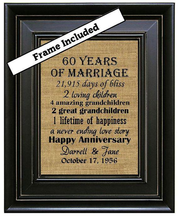 60 Wedding Anniversary Gift Ideas  17 Best ideas about 60th Anniversary on Pinterest