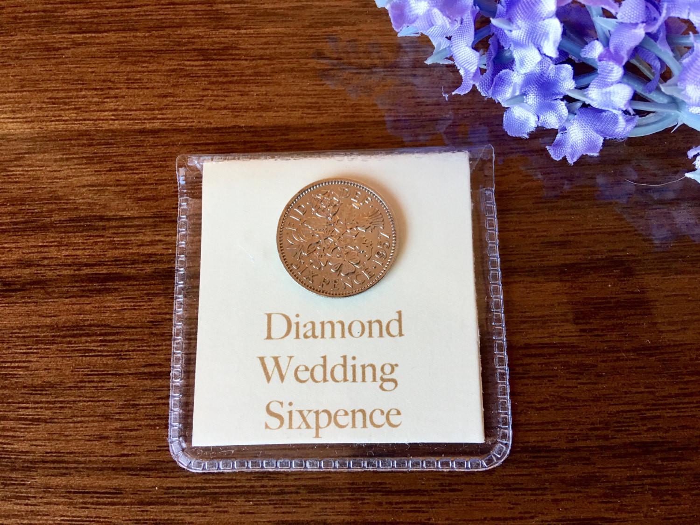 60 Wedding Anniversary Gift Ideas  diamond wedding sixpence 60th wedding anniversary t for