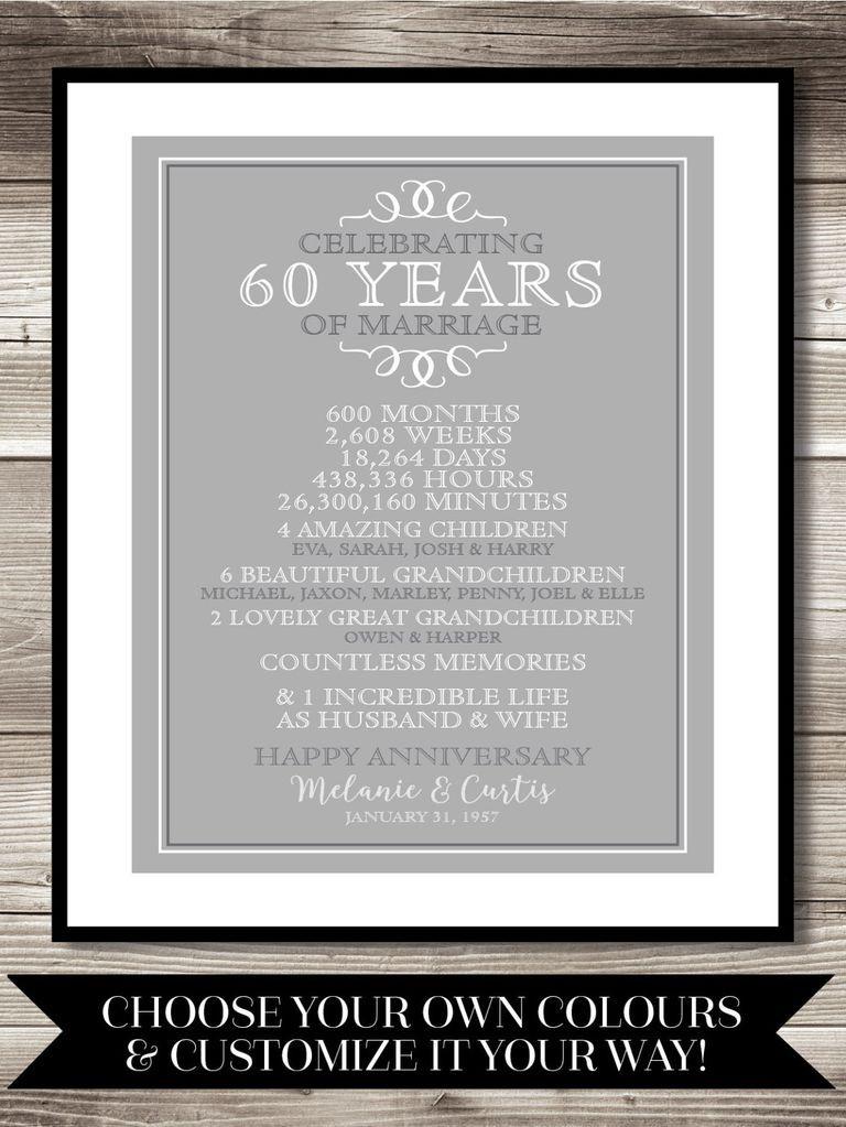 60 Wedding Anniversary Gift Ideas  60th Wedding Anniversary Gift Ideas