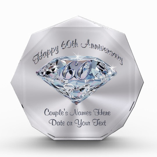 60 Wedding Anniversary Gift Ideas  Lovely 60th Wedding Anniversary Gifts PERSONALIZED