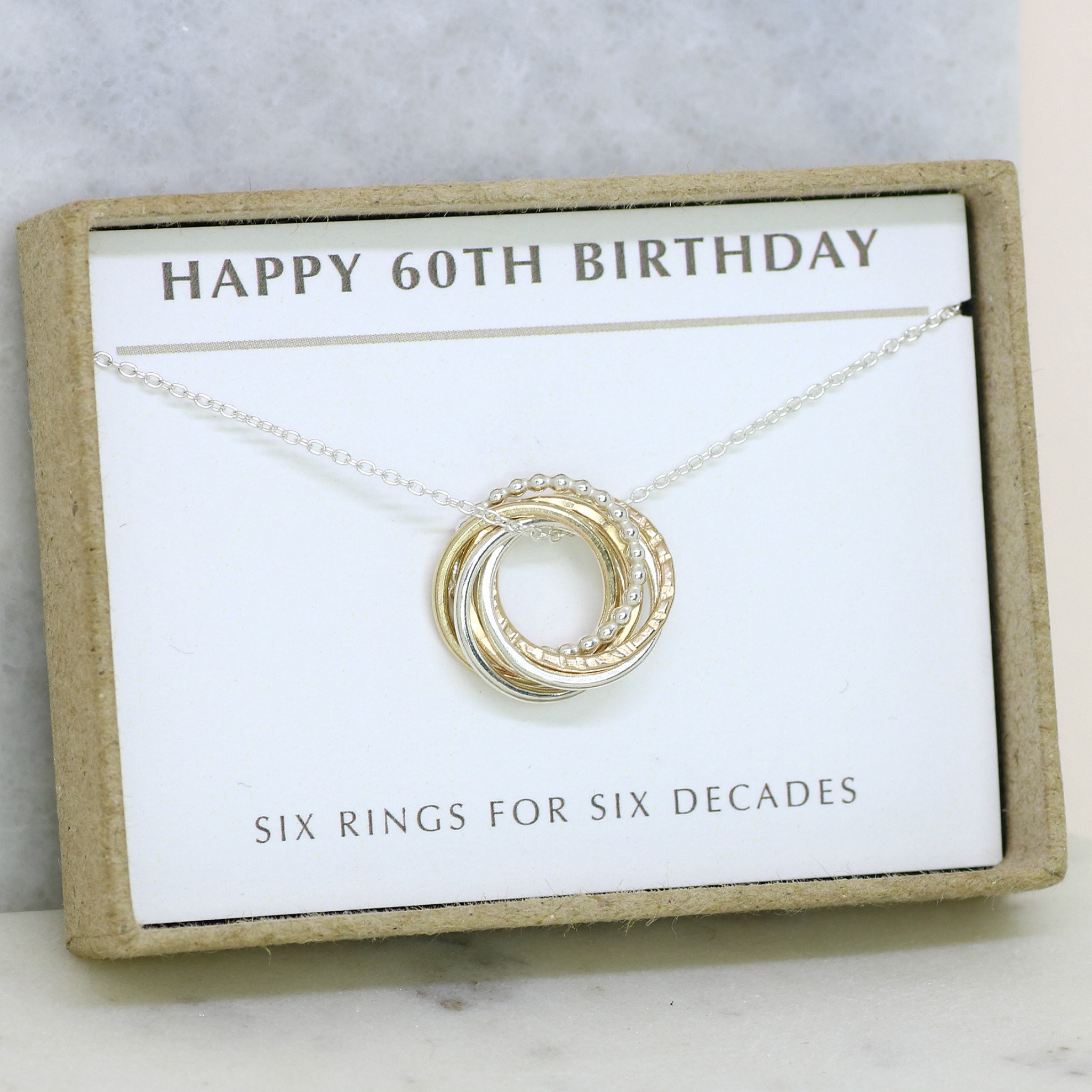60Th Birthday Gifts For Her  60th birthday t for her 60th birthday necklace 60th