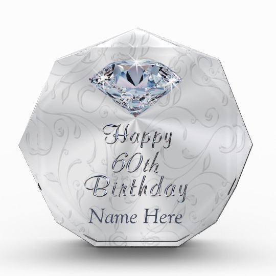 60Th Birthday Gifts For Her  Gorgeous Personalized 60th Birthday Gifts for Her