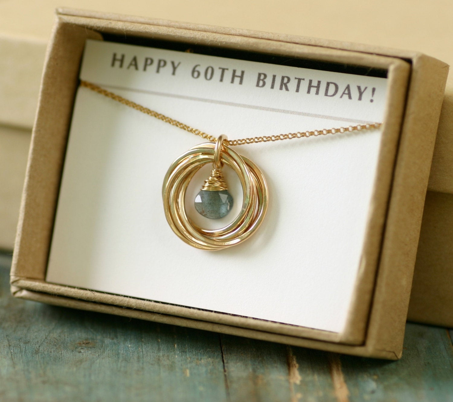 60Th Birthday Gifts For Her  60th birthday t for her aquamarine necklace for mom t