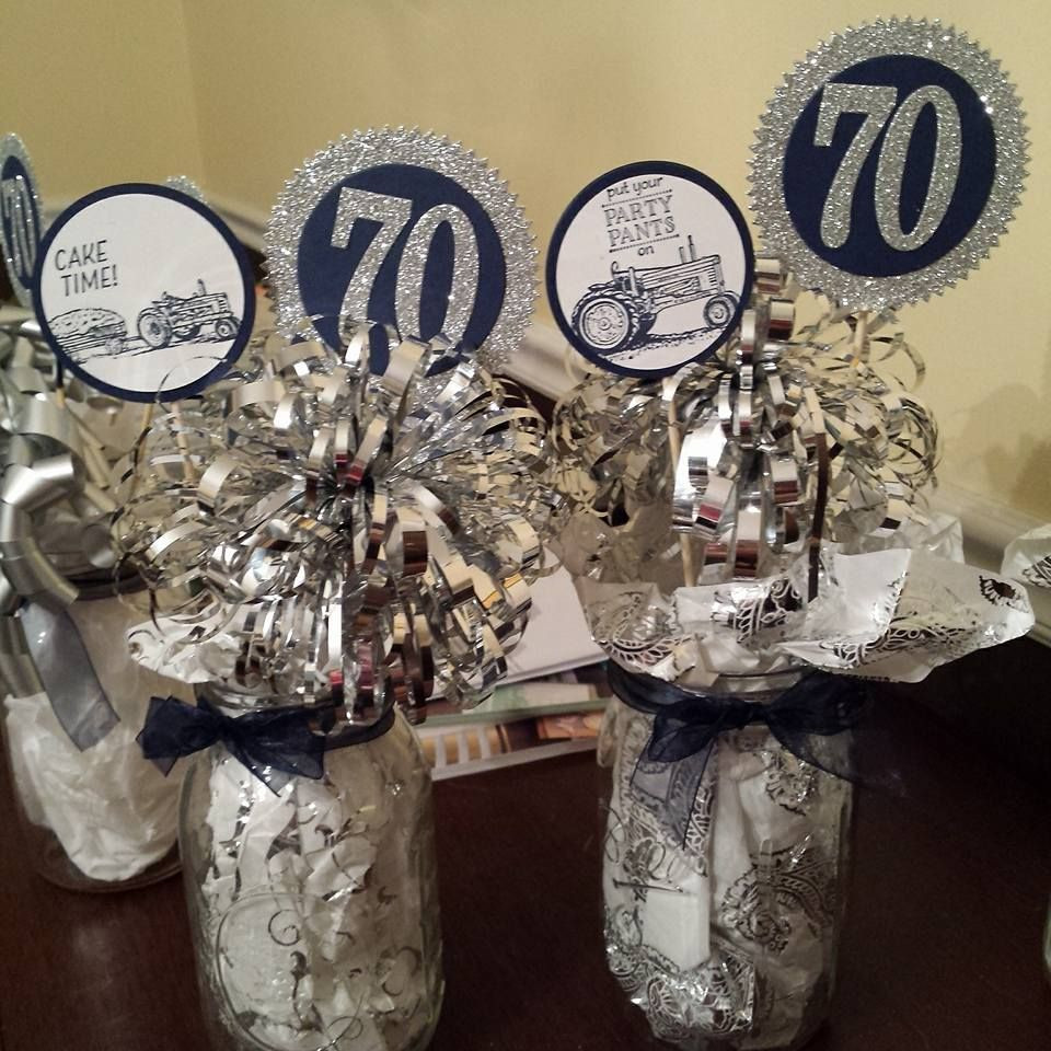 70Th Birthday Table Decorations  2016 Created by Dori Thompson Schneider using the SS