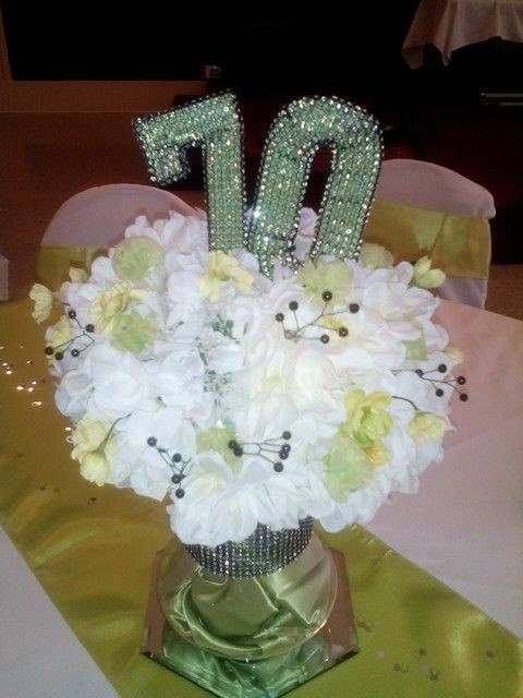 70Th Birthday Table Decorations  70th Birthday Party Centerpiece crafts Pinterest