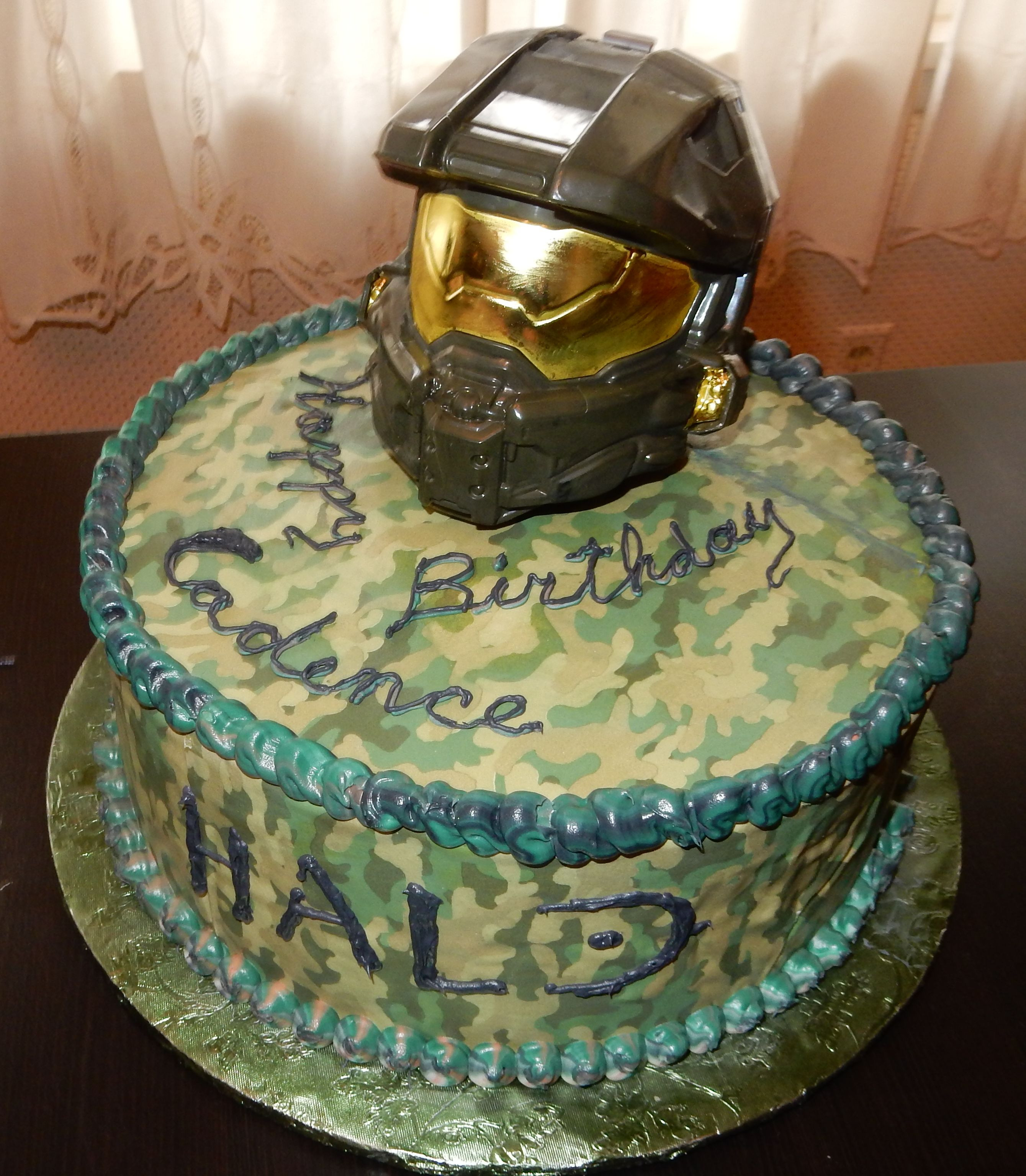 9 Year Old Boy Birthday Cake Ideas  HALO cake for 9 year old