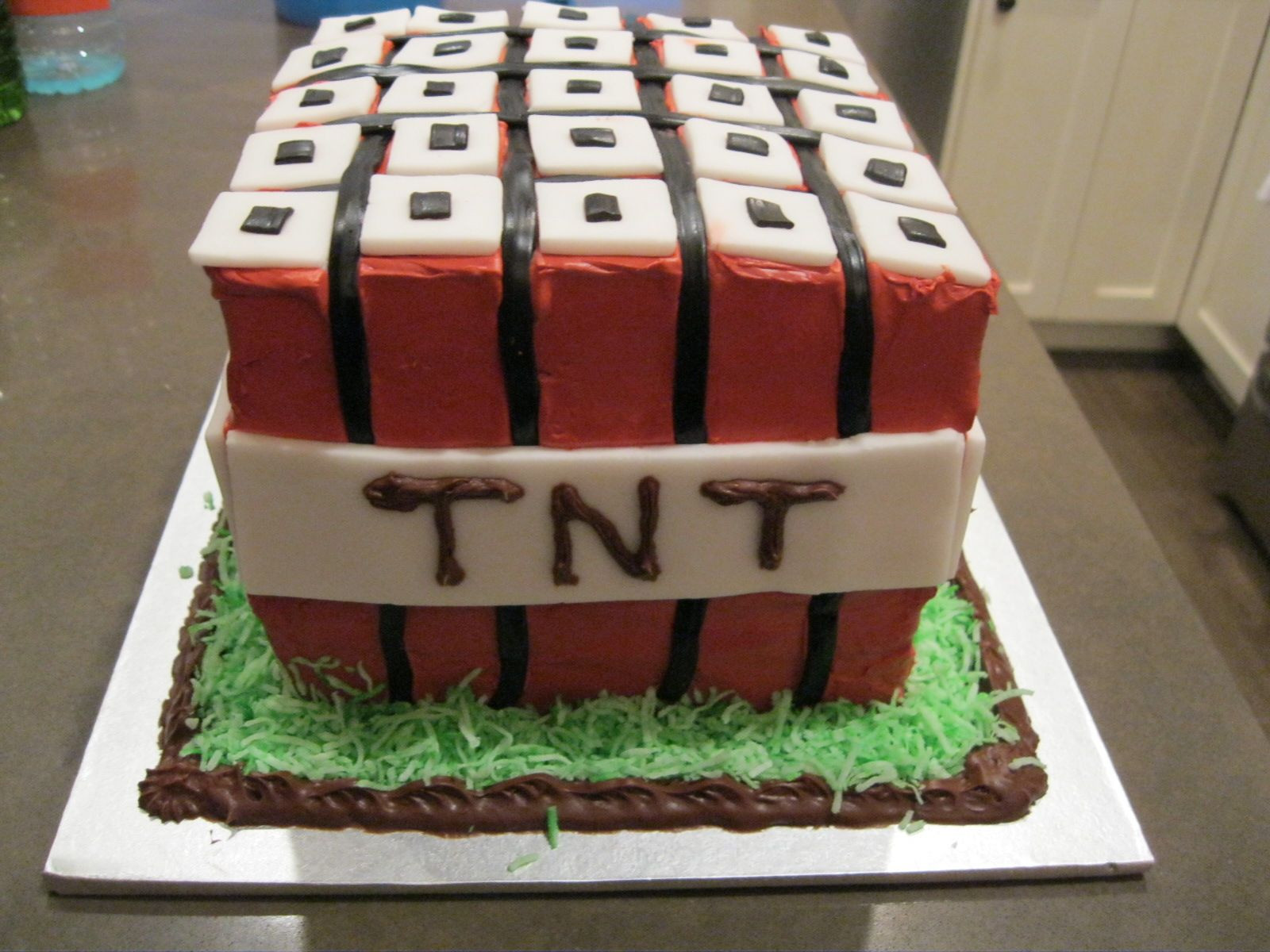 9 Year Old Boy Birthday Cake Ideas  Minecraft TNT Birthday Cake This was a hit with all the 9