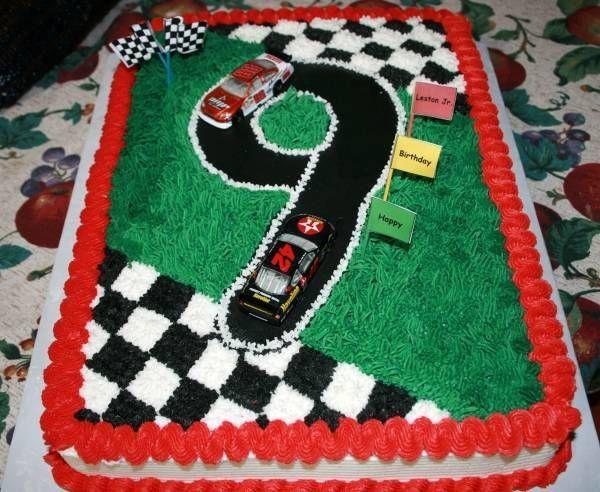 9 Year Old Boy Birthday Cake Ideas  nascar 7 year old birthday cake