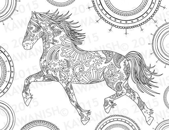 Adult Coloring Pages Horses  Best 25 Horse coloring pages ideas only on Pinterest