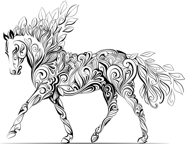Adult Coloring Pages Horses  How adult colouring therapy could improve your mental