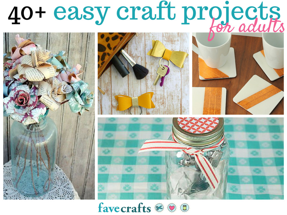 Adult Craft Projects  44 Easy Craft Projects For Adults