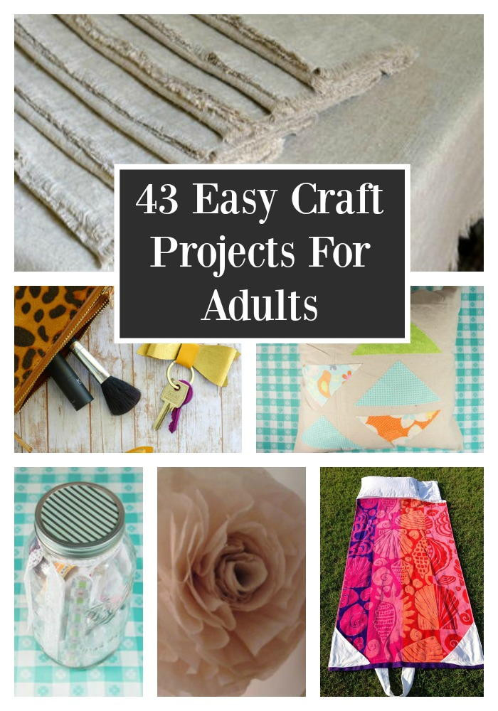 Adult Craft Projects  43 Easy Craft Projects For Adults