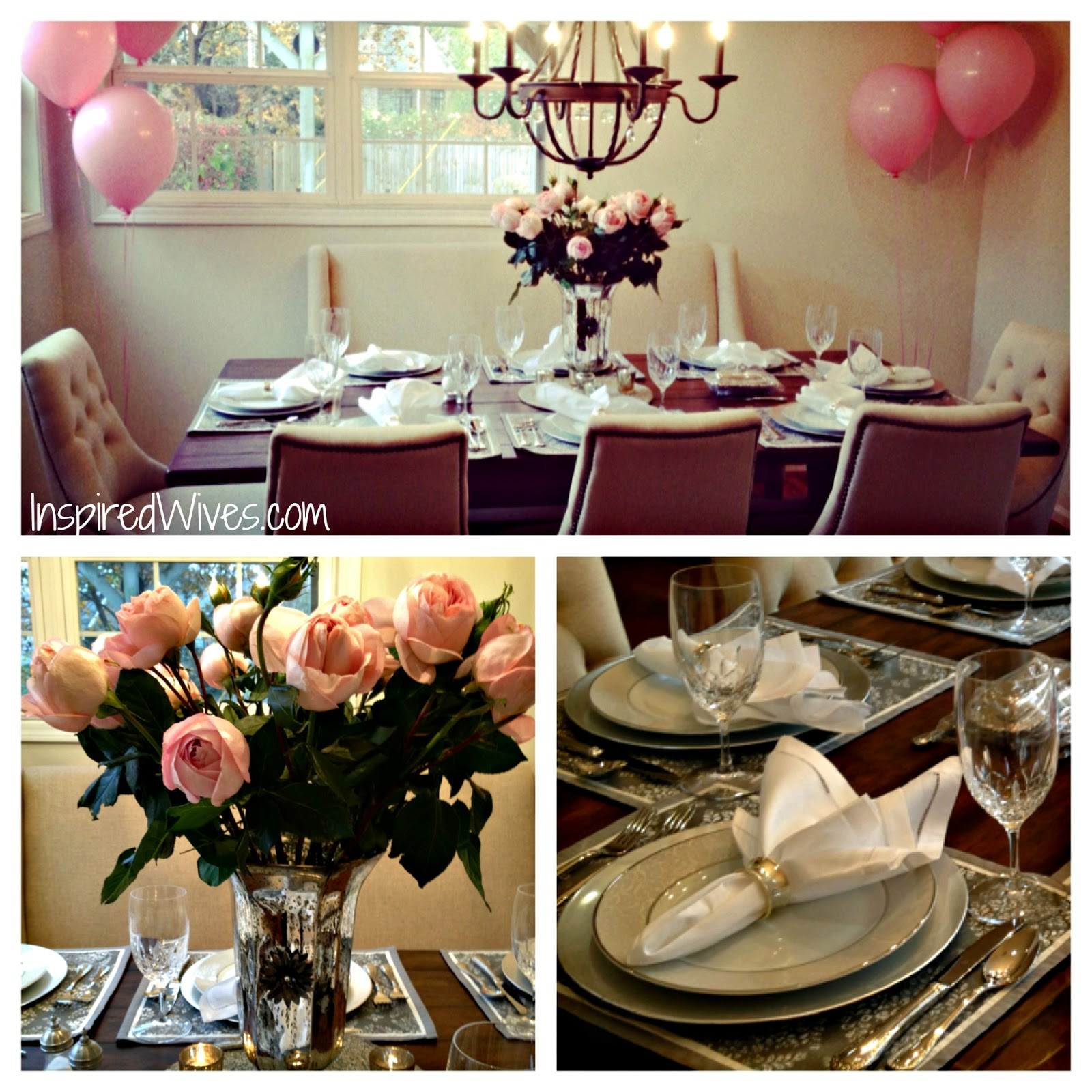 Adult Dinner Party Ideas  Inspired I Dos Elegant Dinner Party Think Pink