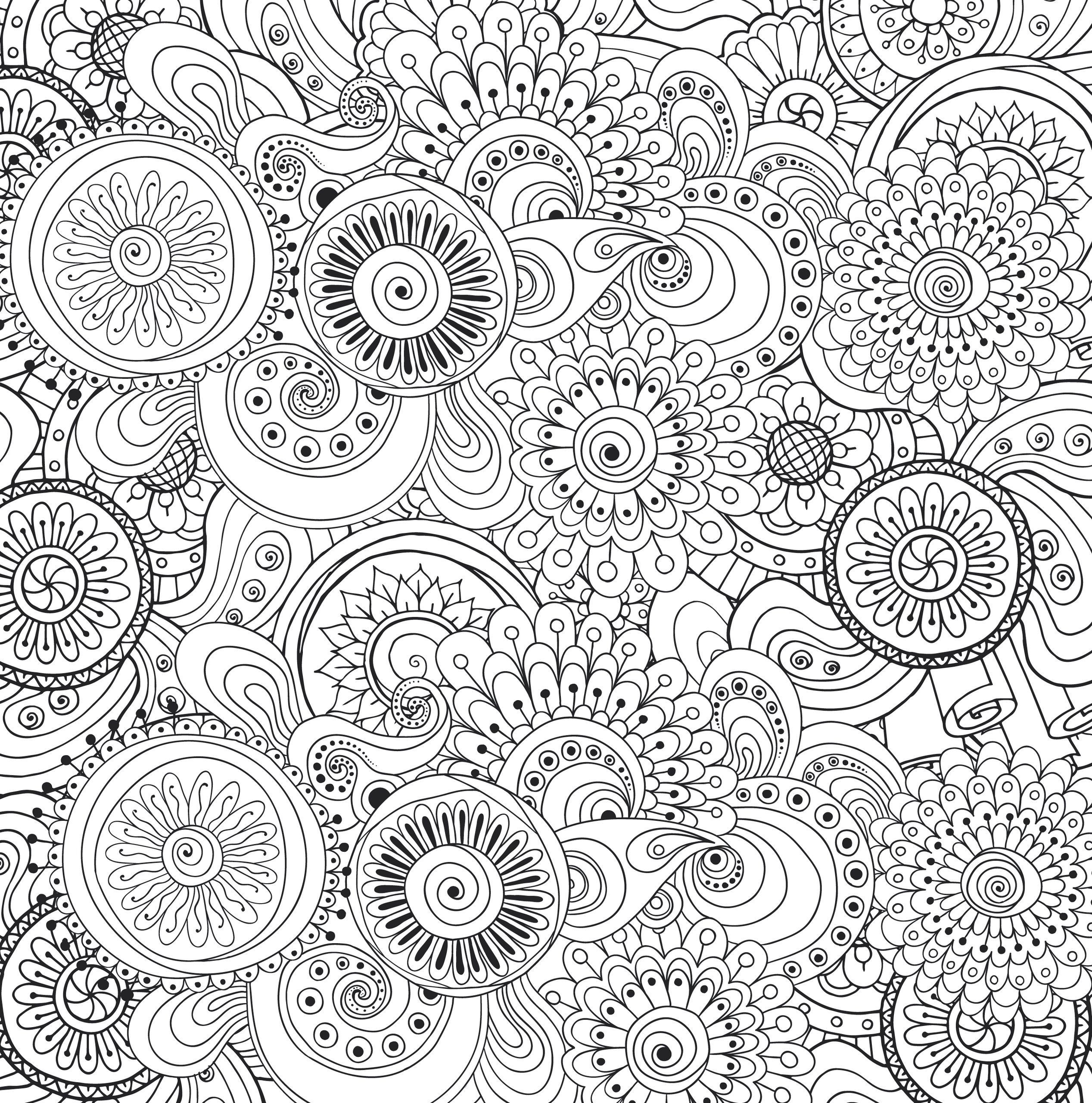 Adult Stress Coloring Books  Peaceful Paisleys Adult Coloring Book 31 stress relieving