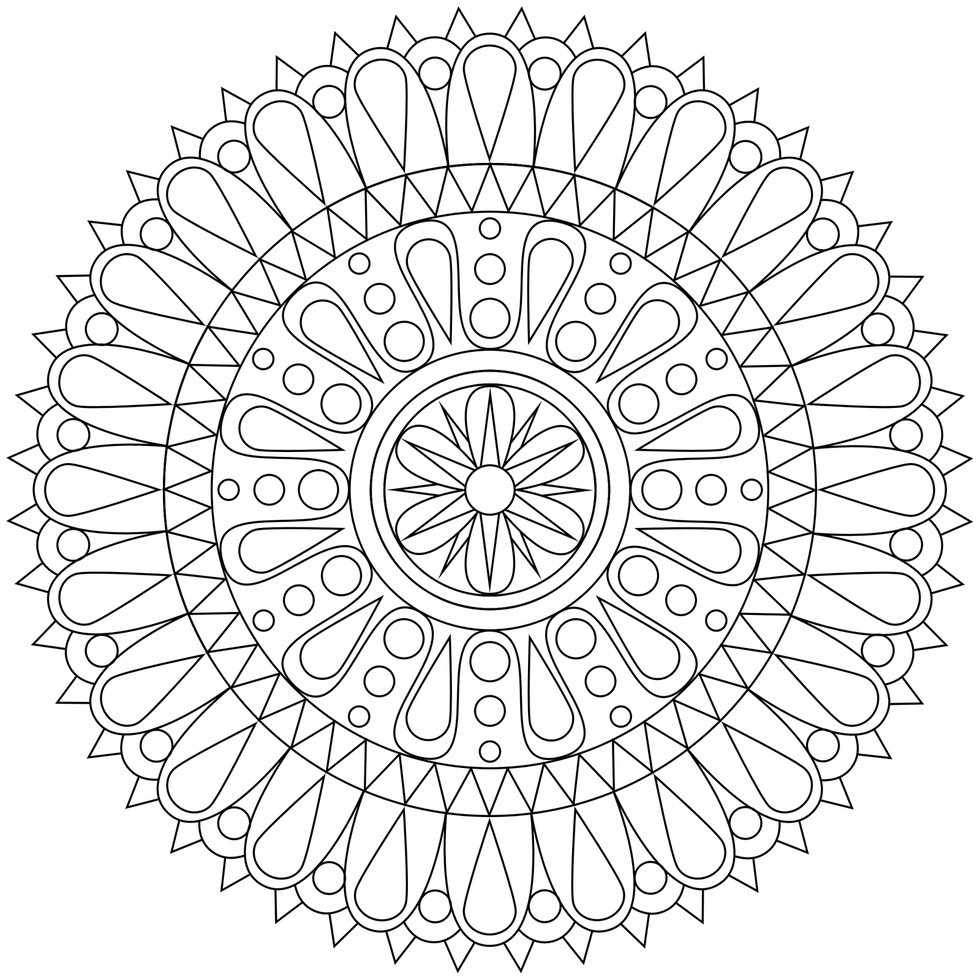 Adult Stress Coloring Books  These Printable Mandala And Abstract Coloring Pages