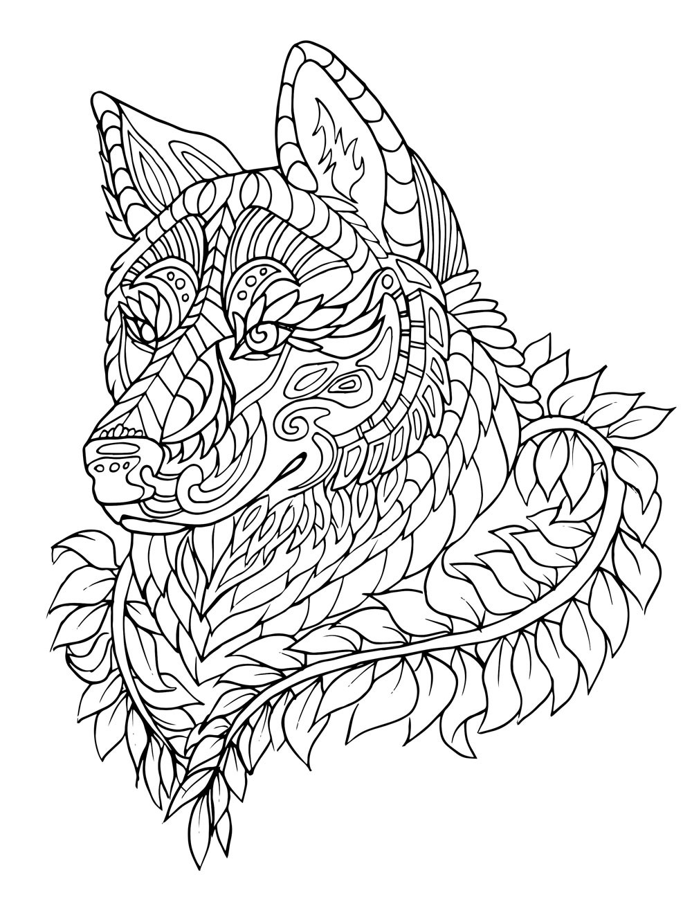 Adult Stress Coloring Books  Stress Relief Coloring Pages Animals Free
