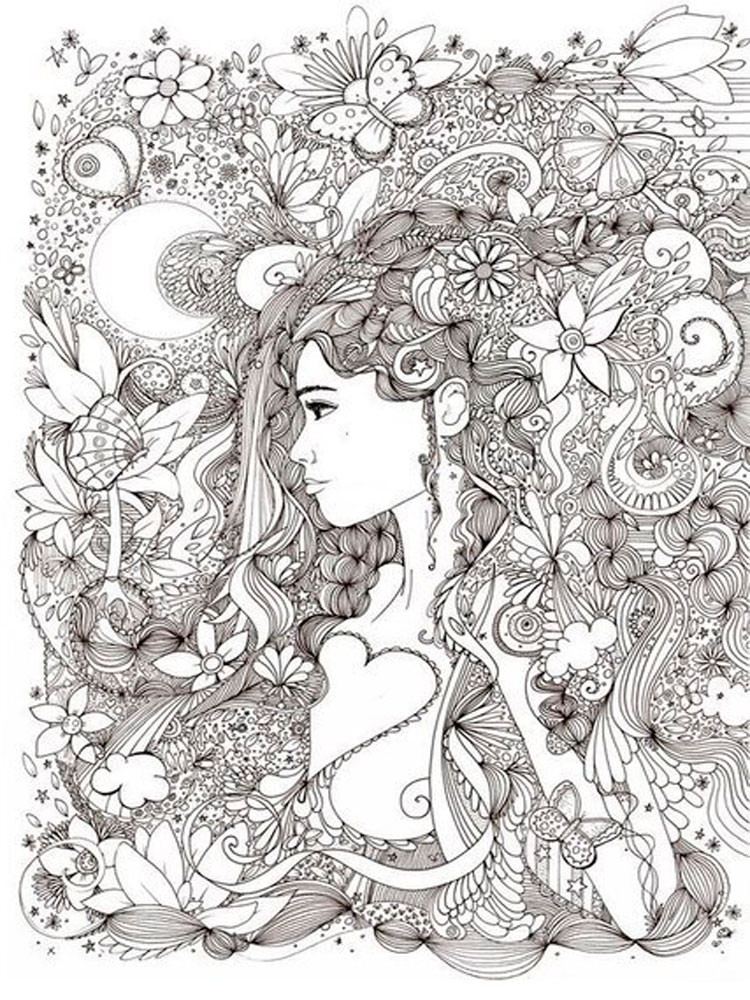Adult Stress Coloring Books  Anti Stress coloring pages for adults Free Printable Anti