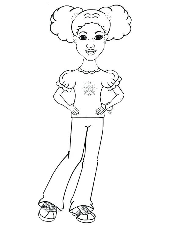 African American Girl Coloring Pages  African American Girl Drawing at GetDrawings