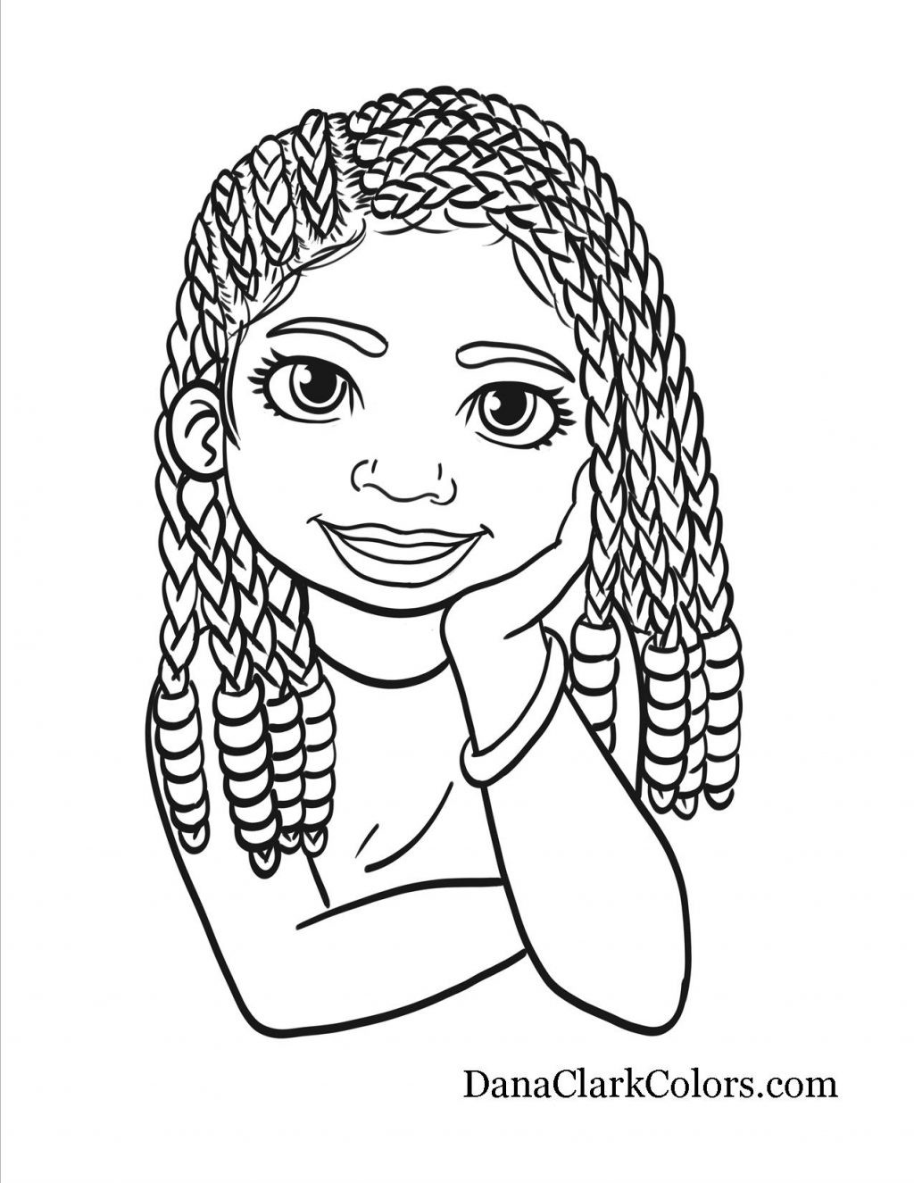 African American Girl Coloring Pages  African American Girl Coloring Pages Collection