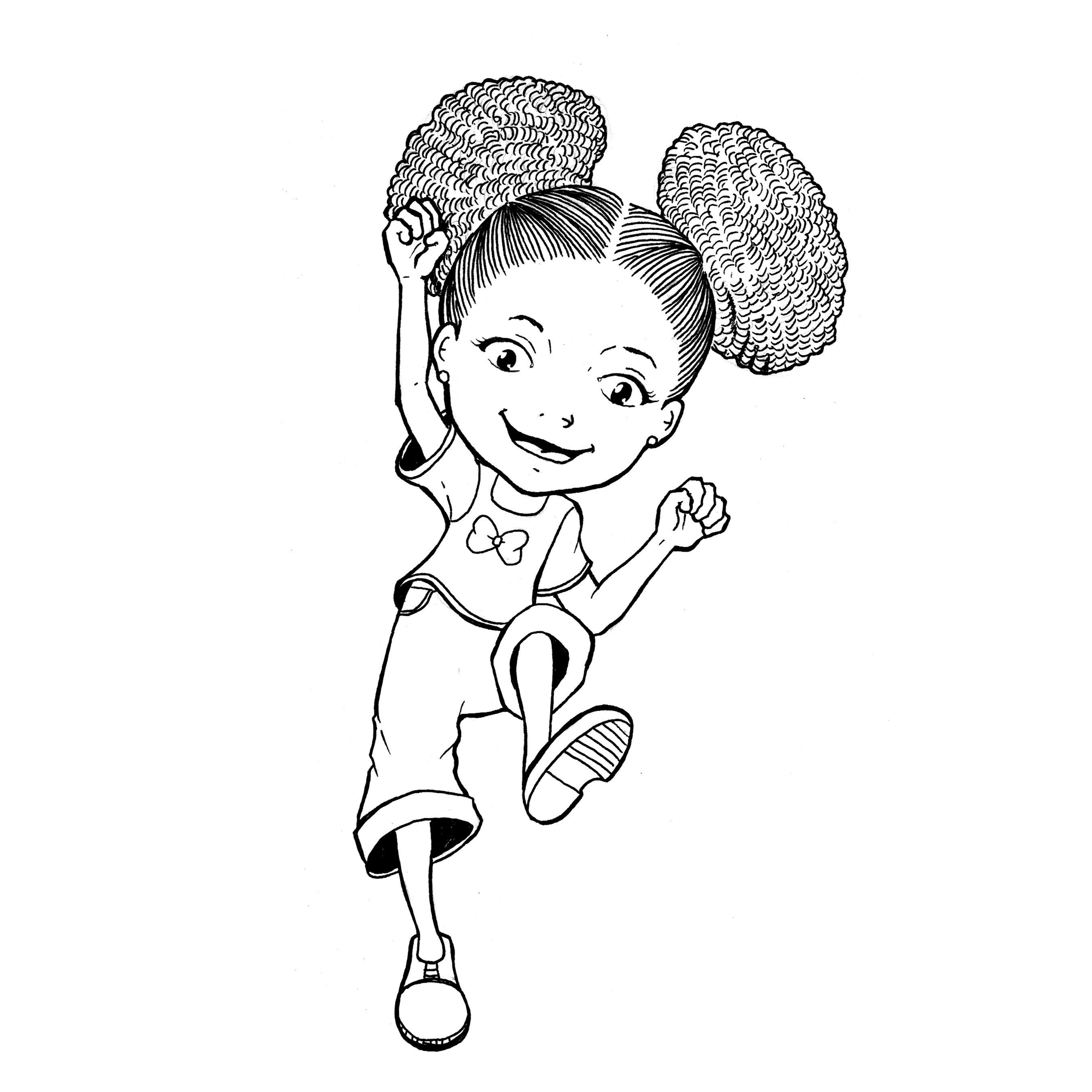 African American Girl Coloring Pages  african american woman afro drawing Google Search