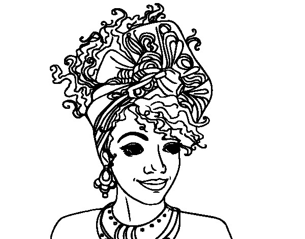 African American Girl Coloring Pages  African American Woman Coloring Pages