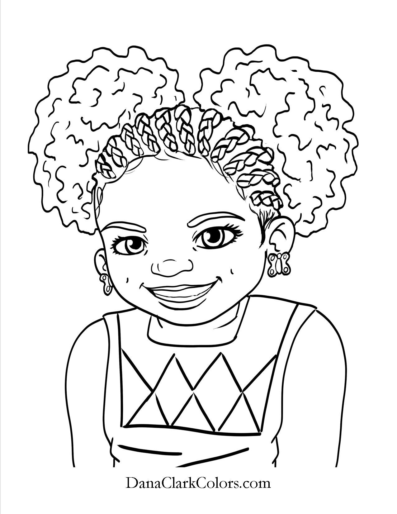 African American Girl Coloring Pages  African Girl Coloring Pages at GetColorings