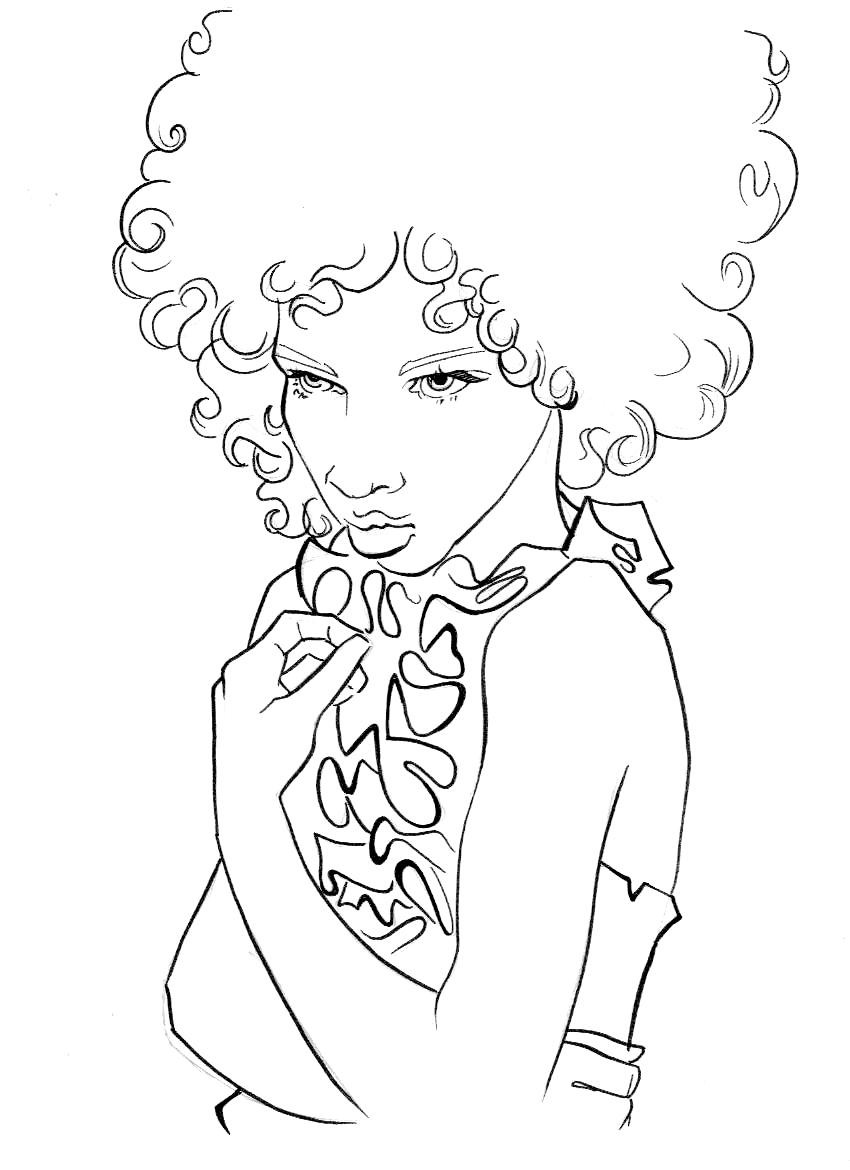 African American Girl Coloring Pages  Naturally Beautiful Hair Natural Hair Coloring Book