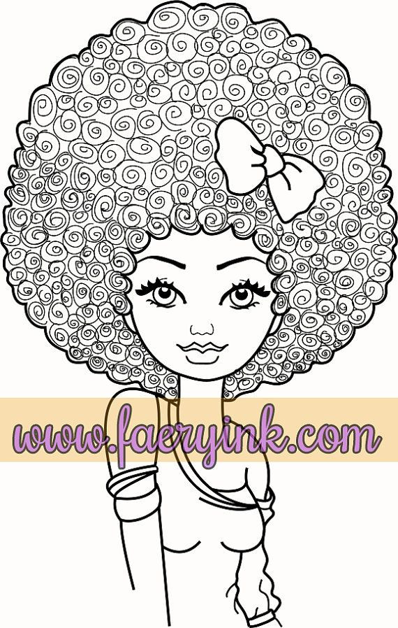 African American Girl Coloring Pages  15 best black girl magic to color images on Pinterest
