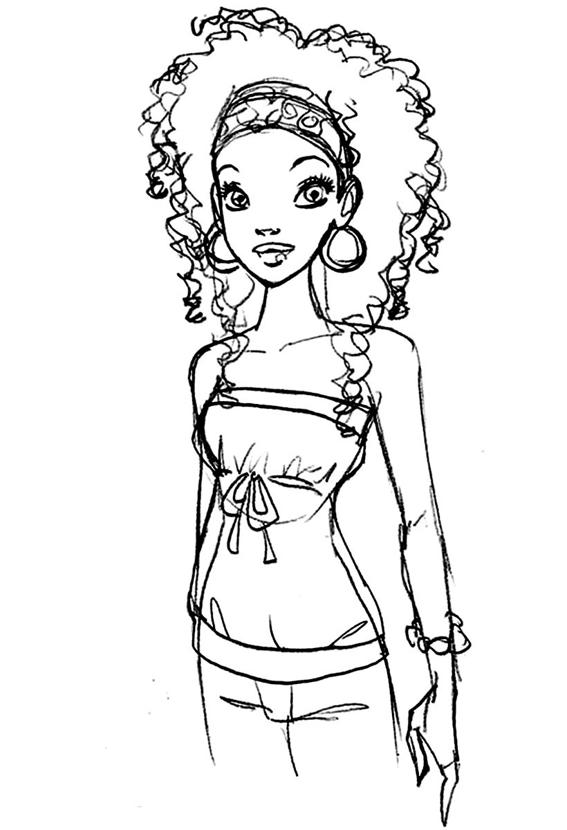 African American Girl Coloring Pages  awesome PRINTABLE AFRICAN AMERICAN COLORING PAGES ONLINE