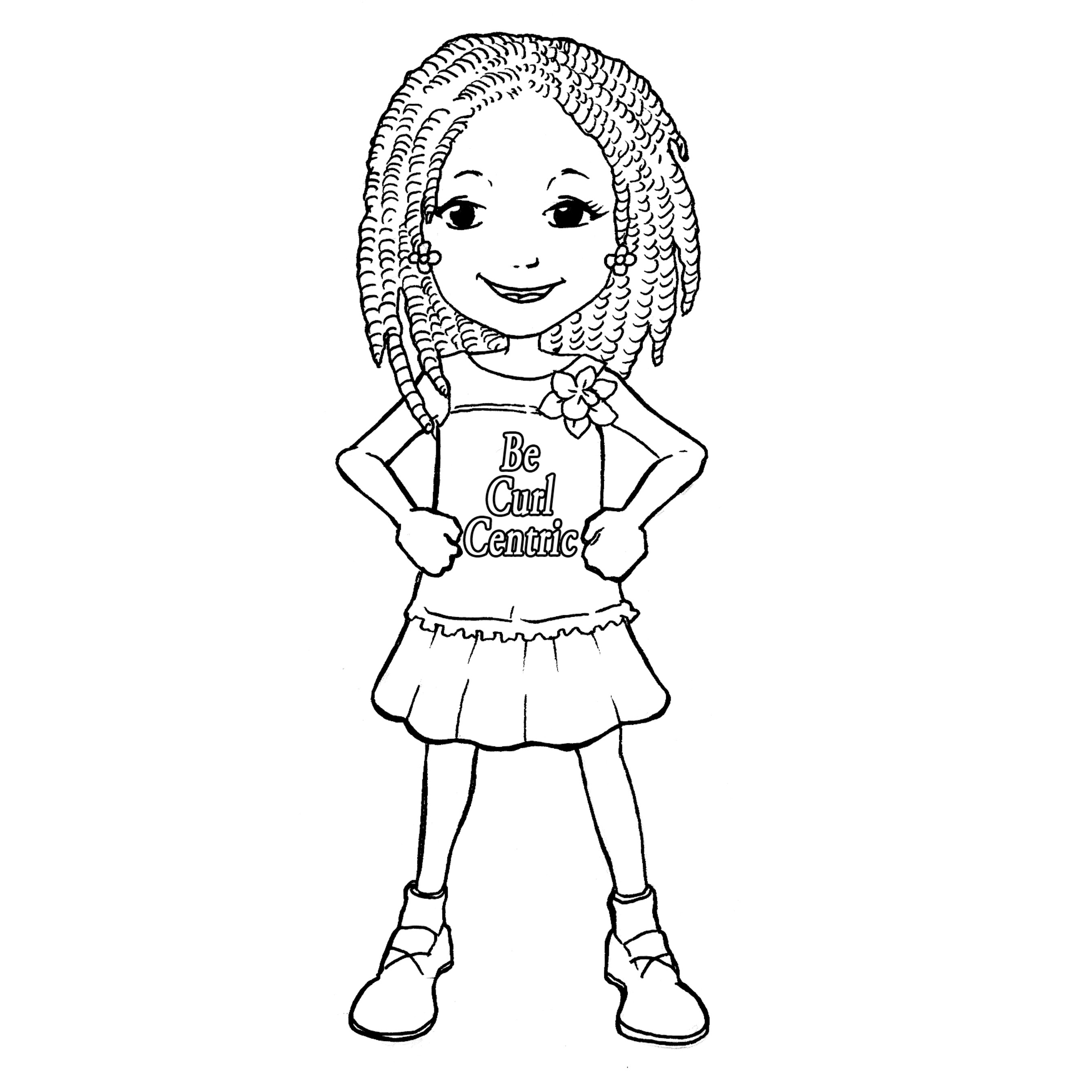 African American Girl Coloring Pages  Teach Your Girls to Love Their Curls With BeCurlCentric