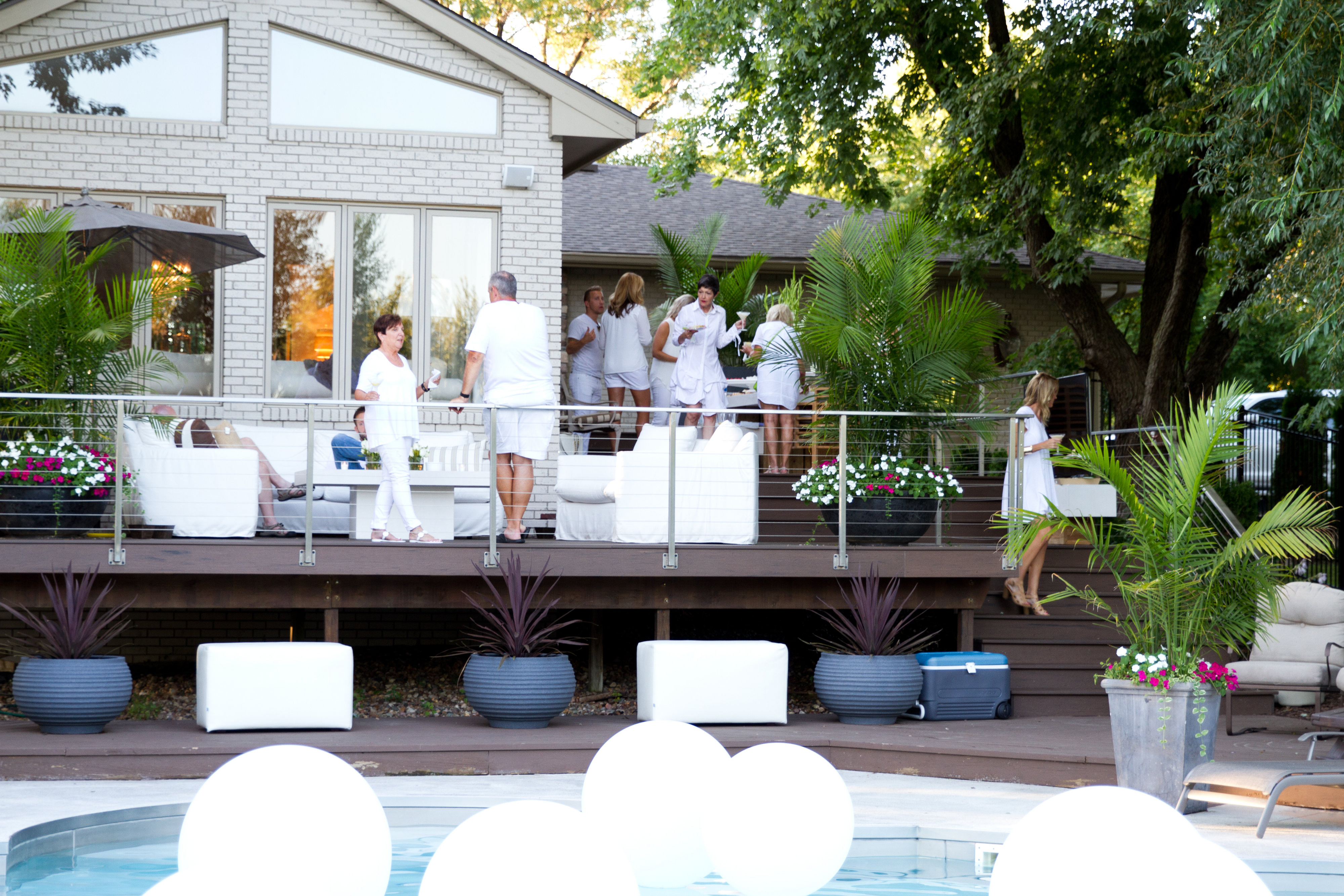 All White Pool Party Ideas  A White Party to Remember