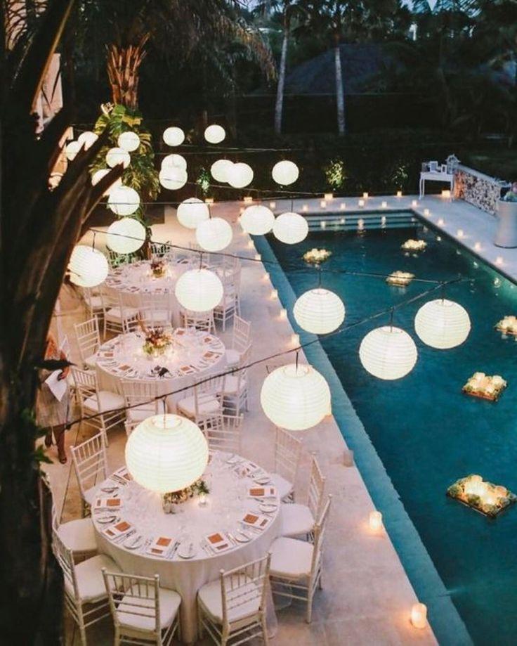 All White Pool Party Ideas  Best 25 Pool wedding ideas on Pinterest