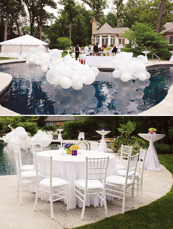 All White Pool Party Ideas  How to Throw a White Out Party – Hadley Court Interior