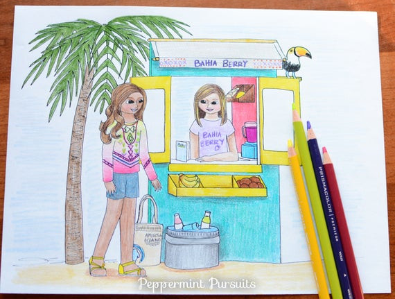 American Girl Lea Coloring Pages  Items similar to American Girl Doll Lea Clark 2016 in