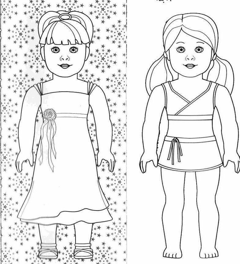 American Girl Lea Coloring Pages  american girl doll coloring pages lea clark PICT
