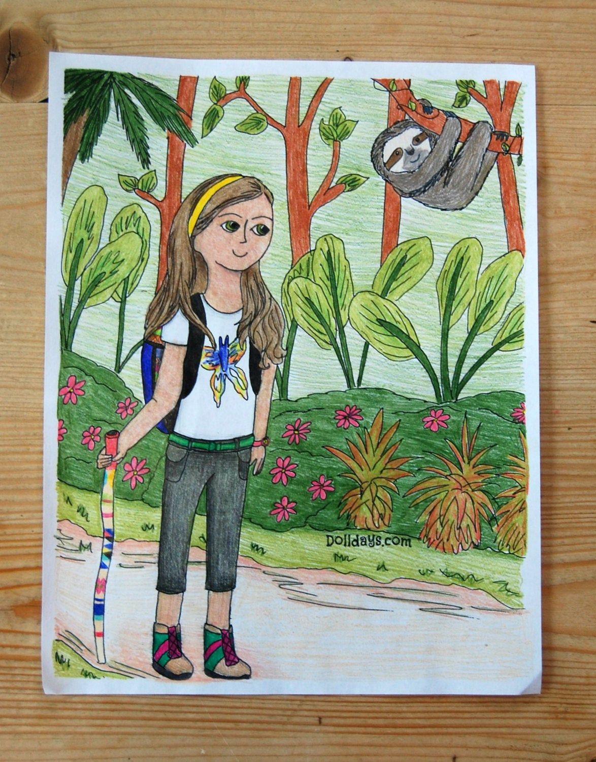 American Girl Lea Coloring Pages  American Girl Lea Clark Inspired Coloring Page Rainforest