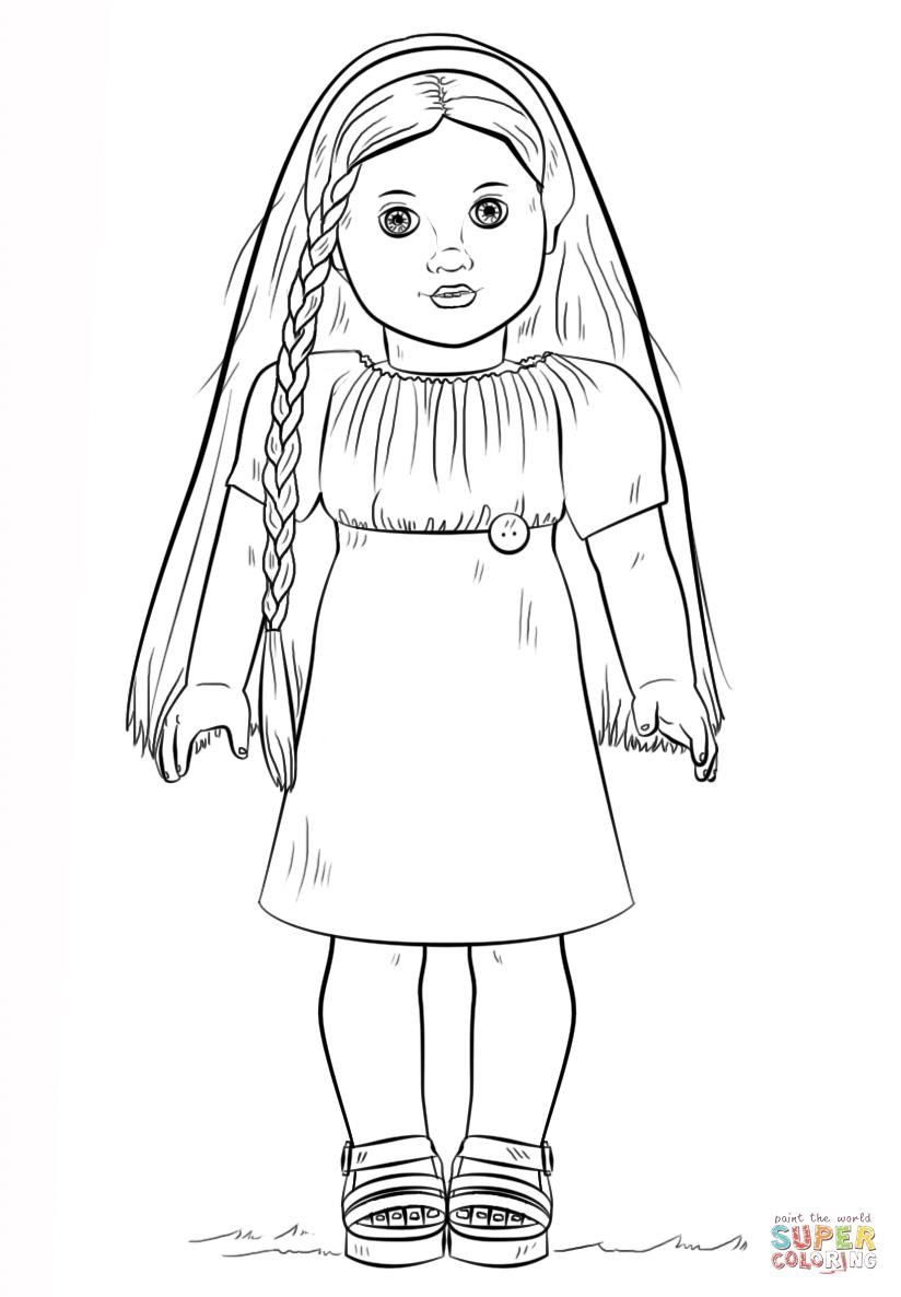 American Girl Lea Coloring Pages  girl doll lea coloring pages
