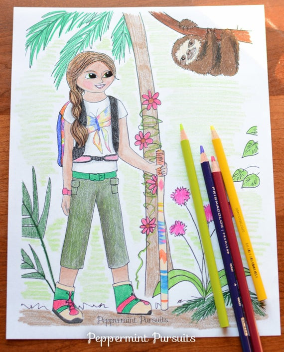 American Girl Lea Coloring Pages  Items similar to American Girl Doll Lea Clark Hiking