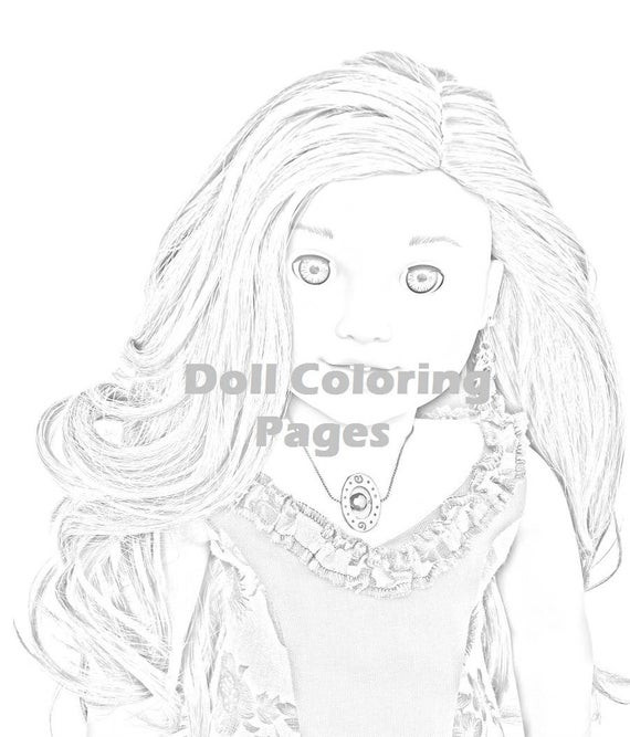 American Girl Lea Coloring Pages  Lea Clark American Girl Doll Coloring Pages Adult Coloring