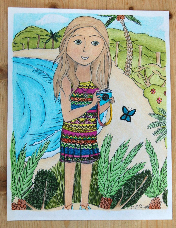 American Girl Lea Coloring Pages  American Girl Lea Clark Coloring Page Meet Lea Handmade