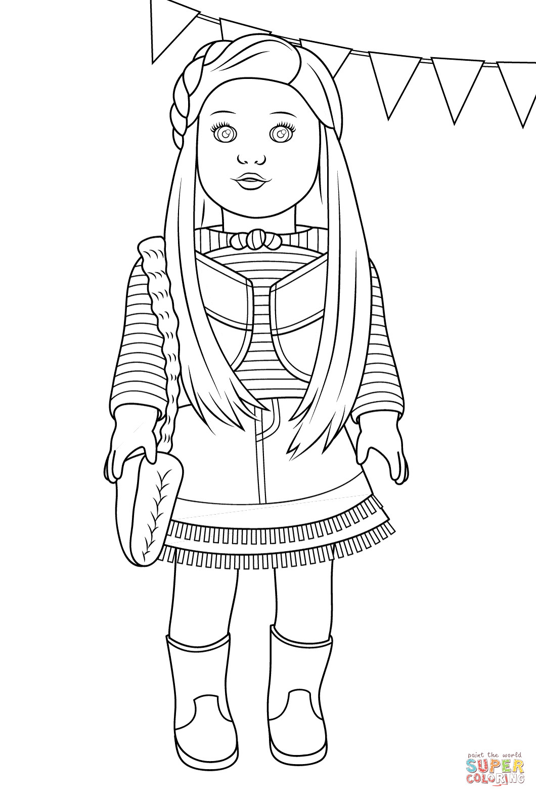 American Girl Lea Coloring Pages  American Girl Mckenna coloring page