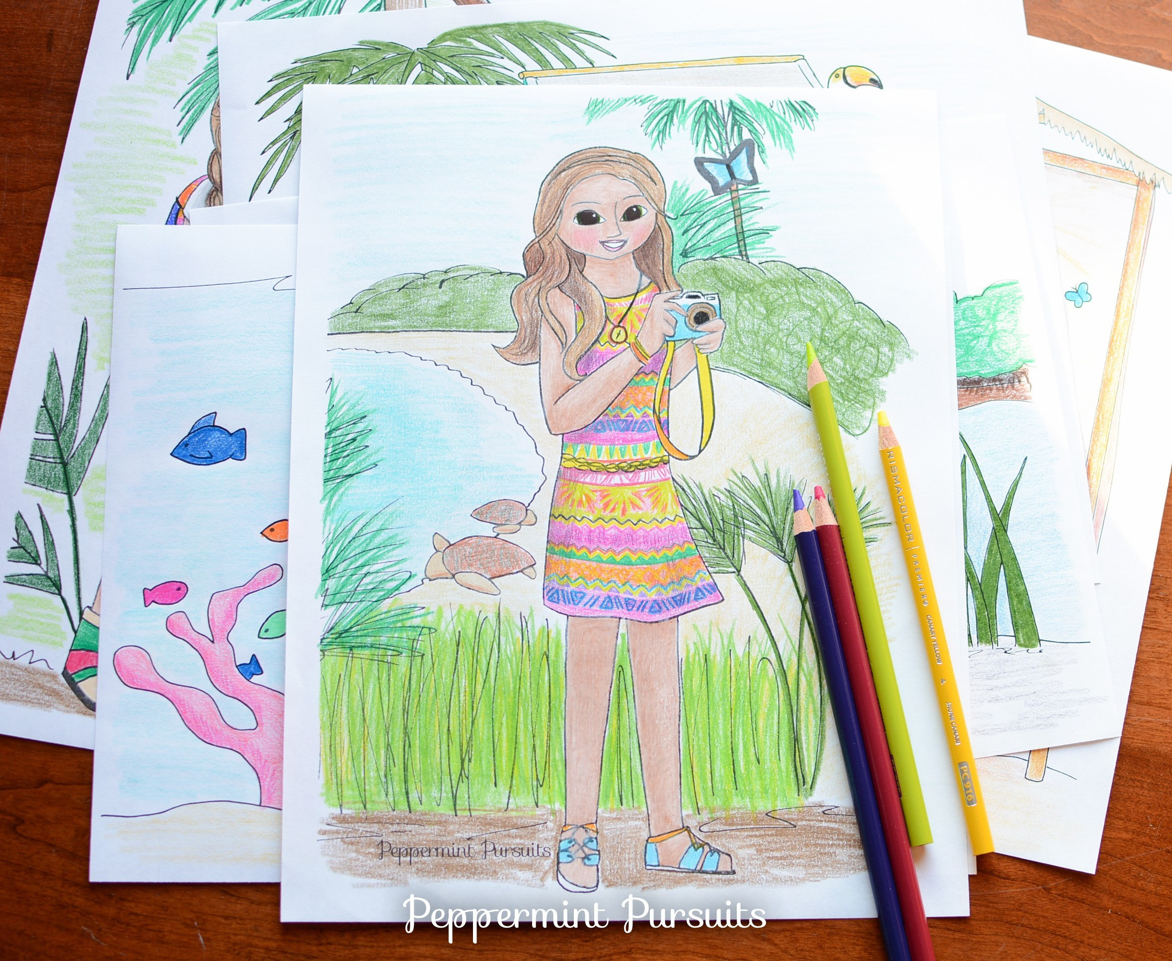 American Girl Lea Coloring Pages  Coloring Page and Clay Food Release – January 2016