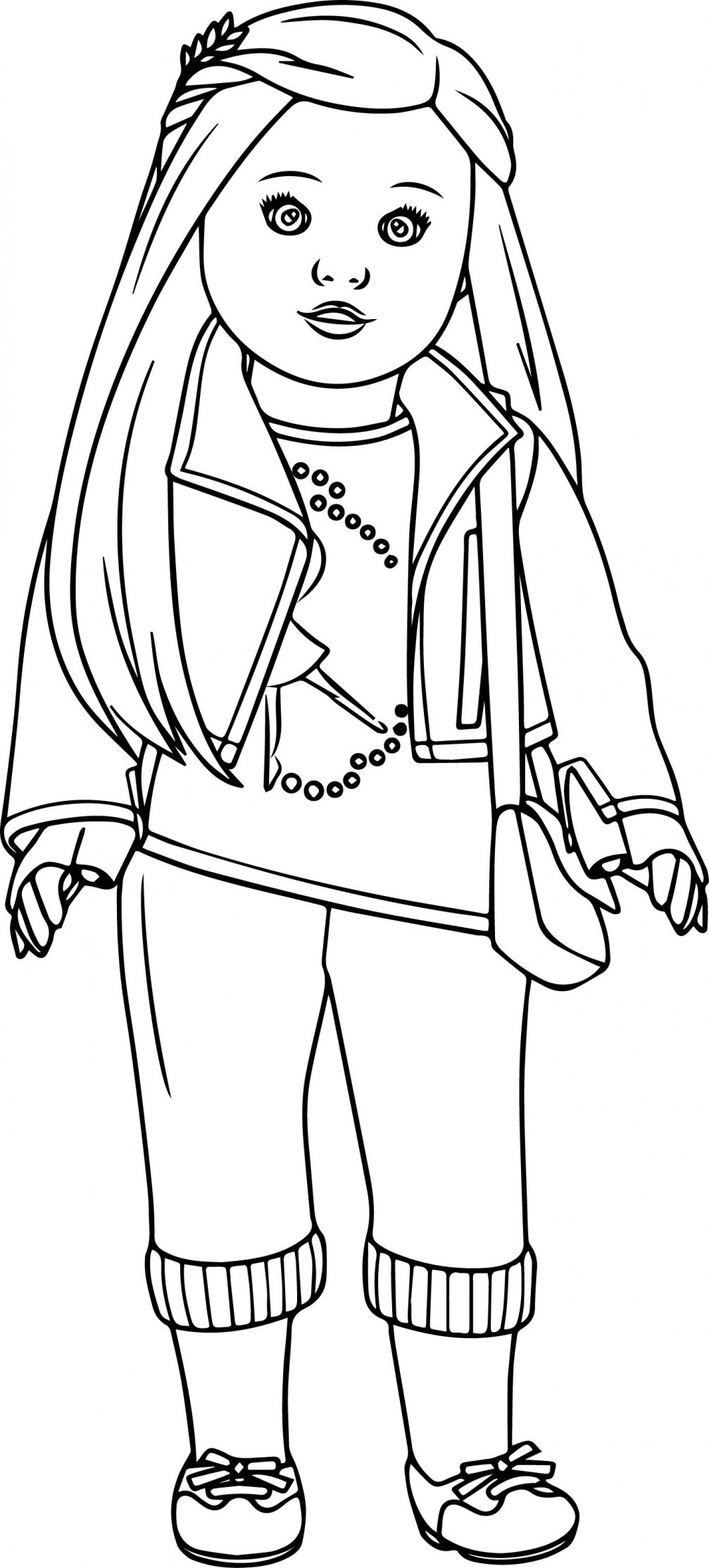American Girl Lea Coloring Pages  Doll clipart coloring page Pencil and in color doll