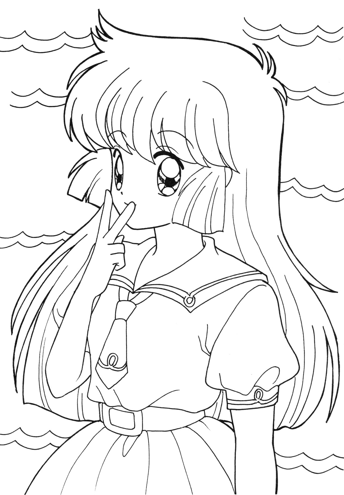 Anime School Girl Coloring Pages  Inspirational Quotes Coloring Pages at GetColorings