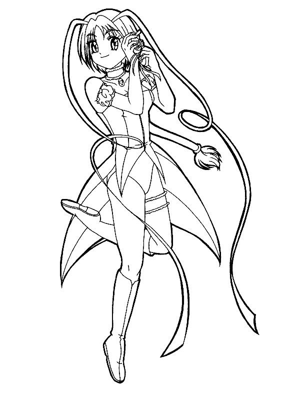 Anime School Girl Coloring Pages  19 best Mew Mew Coloring Pages images on Pinterest