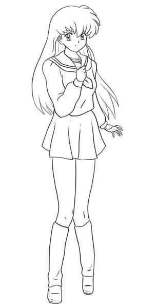 Anime School Girl Coloring Pages  Inuyasha The Final Act Coloring Pages