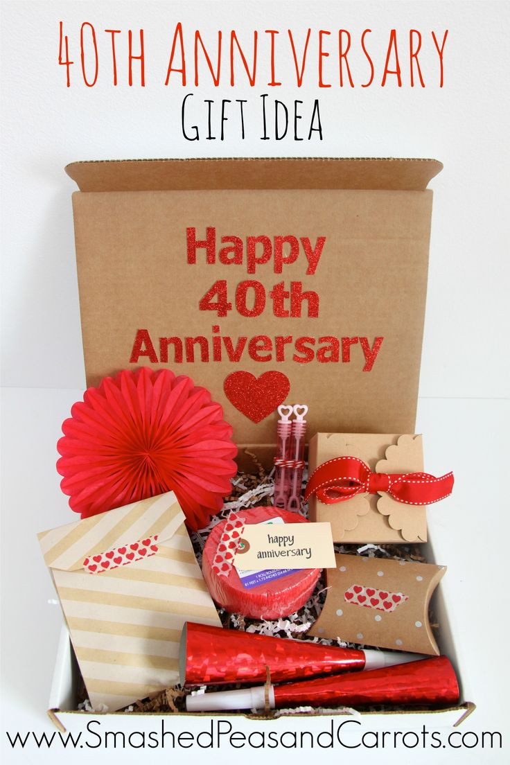 Anniversary Gift Ideas  17 Best ideas about 40th Anniversary Gifts on Pinterest