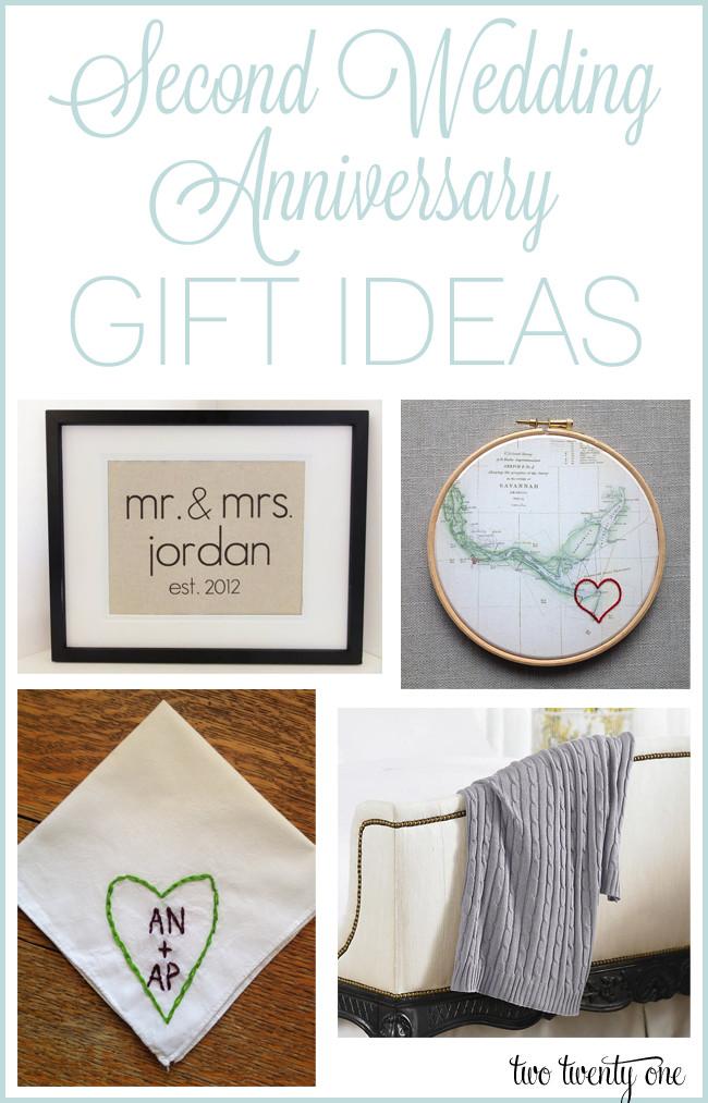 Anniversary Gift Ideas  Second Anniversary Gift Ideas