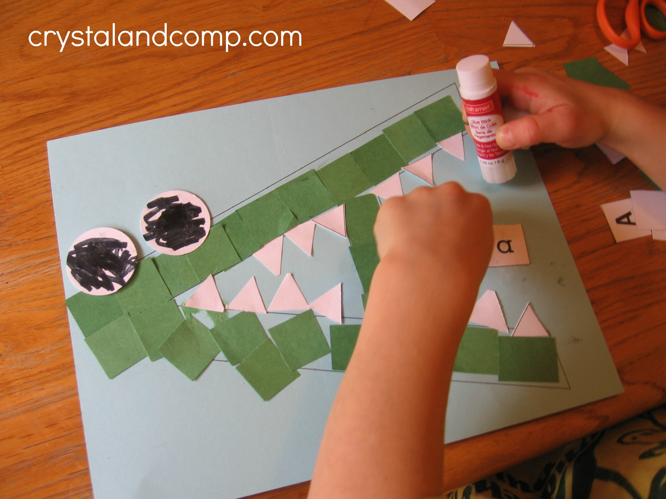Arts And Crafts For Preschoolers  Letter of the Week A is for Alligator