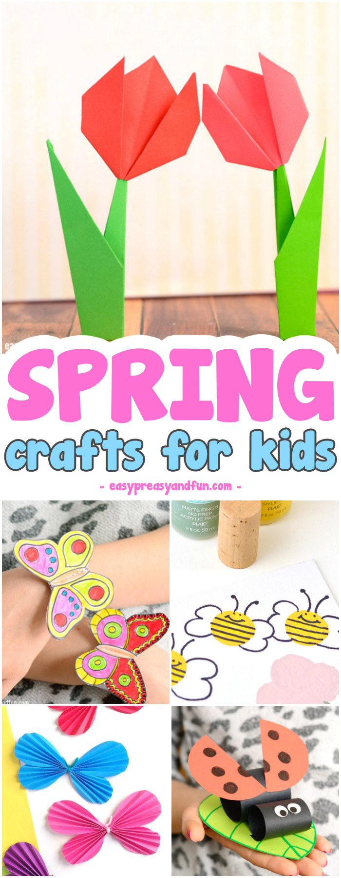 Arts And Crafts For Preschoolers  Spring Crafts for Kids Art and Craft Project Ideas for